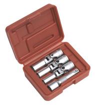 """Sealey SX0402 Diesel Glow Plug Socket Set 4pc 3/8""""Sq Drive"""
