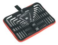 Sealey AK7157 TRX-Star & Ball-End Hex Key Set 19pc Long