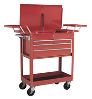 Sealey AP930M Extra Heavy-Duty Trolley 2-Level with 4 Drawers & Cantilever Trays