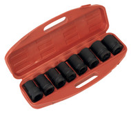 "Sealey AK888M Impact Socket Set 8pc Deep 1""Sq Drive - Metric"