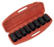 """Sealey AK888M Impact Socket Set 8pc Deep 1""""Sq Drive - Metric"""