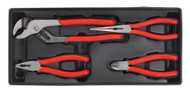 Sealey TBT02 Tool Tray with Pliers Set 4pc