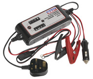 Sealey SMC03 Compact Auto Digital Battery Charger - 9-Cycle 6/12V
