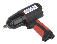 "Sealey GSA6000 Composite Air Impact Wrench 3/8""Sq Drive Twin Hammer"