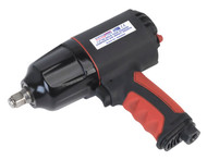 """Sealey GSA6002 Composite Air Impact Wrench 1/2""""Sq Drive Twin Hammer"""