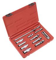 """Sealey AK6562 Master Service Set - Spark/Glow Plug & Oxygen Sensor 3/8""""Sq Drive 11pc"""