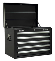 Sealey AP26059TB Topchest 5 Drawer with Ball Bearing Runners - Black