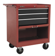 Sealey AP3603B Rollcab 3 Drawer with Ball Bearing Runners Drop Front - Red/Black