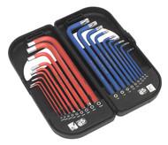 Sealey AK7176 TRX-Star & Ball-End Hex Key Set 18pc Long Anti-Slip