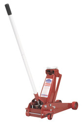 Sealey 3010CX Trolley Jack 3tonne Standard Chassis with Axle Stands (Pair) 3tonne Capacity per Stand