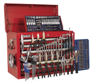 Sealey AP33109COMBO Topchest 10 Drawer with Ball Bearing Runners - Red & 138pc Tool Kit
