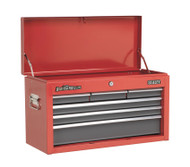 Sealey AP2201BB Topchest 6 Drawer with Ball Bearing Runners - Red/Grey