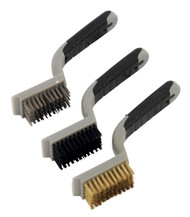 Sealey WB101 Wire Brush Set 3pc Wide Body