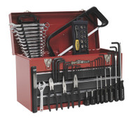 Sealey AP9243BBCOMBO Portable Tool Chest 3 Drawer with Ball Bearing Runners - Red/Grey & 93pc Tool Kit