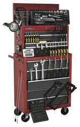 Sealey AP2250BBCOMBO Topchest & Rollcab Combination 14 Drawer with Ball Bearing Runners - Red/Grey & 239pc Tool Kit