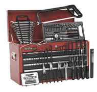 Sealey AP2201BBCOMBO Topchest 6 Drawer with Ball Bearing Runners - Red/Grey & 98pc Tool Kit