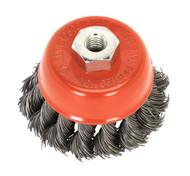 Sealey TKCB651 Twist Knot Wire Cup Brush ¯65mm M14 x 2mm