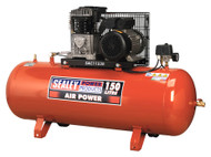 Sealey SAC1153B Compressor 150ltr Belt Drive 3hp with Cast Cylinders