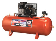 Sealey SAC1203B Compressor 200ltr Belt Drive 3hp with Cast Cylinders