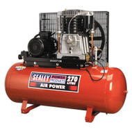 Sealey SAC62710B Compressor 270ltr Belt Drive 10hp 3ph 2-Stage with Cast Cylinders