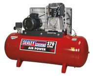 Sealey SAC52775B Compressor 270ltr Belt Drive 7.5hp 3ph 2-Stage with Cast Cylinders