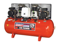 Sealey SAC2276B Compressor 270ltr Belt Drive 2 x 3hp with Cast Cylinders