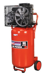Sealey SAC1903B Compressor 90ltr Vertical Belt Drive 3hp