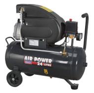 Sealey SAC2420E Compressor 24ltr Direct Drive 2hp