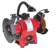 Sealey BG150XWL Bench Grinder ¯150mm & Wire Wheel Combination with Work Light 250W/230V