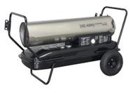 Sealey AB1758SS Space Warmer¨ Paraffin/Kerosene/Diesel Heater 175,000Btu/hr with Wheels Stainless Steel
