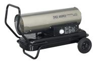 Sealey AB7081SS Space Warmer¨ Paraffin/Kerosene/Diesel Heater 70,000Btu/hr with Wheels Stainless Steel