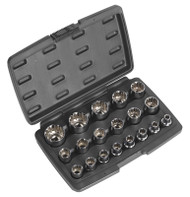 """Sealey AK70619 Socket Set 19pc 1/2""""Sq Drive Total Drive¨"""