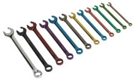 Sealey AK6326 Combination Spanner Set 12pc Fast Action Multi-Coloured Metric
