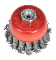 Sealey TKCB652 Twist Knot Wire Cup Brush ¯65mm M10 x 1.25mm