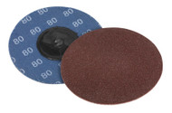 Sealey PTCQC7580 Quick Change Sanding Disc ¯75mm 80Grit Pack of 10