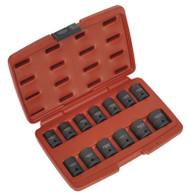 """Sealey AK5613TD Impact Socket Set 13pc 1/2""""Sq Drive Total Drive¨"""