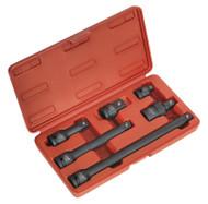 "Sealey AK5514 Impact Adaptor & Extension Bar Set 6pc 1/2""Sq Drive"