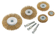 Sealey BWBS08 Wire Brush Set 8pc Brassed