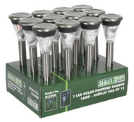 Sealey GL58DB Solar Powered Garden Lamp 1 LED Display Box of 12