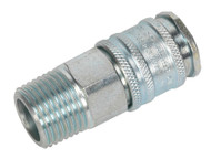 """Sealey AC78 Coupling Body Male 1/2""""BSPT"""