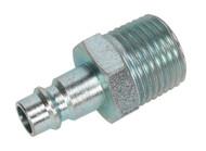 """Sealey AC84 Screwed Adaptor Male 1/2""""BSPT Pack of 2"""