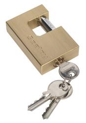 Sealey PL109 Brass Body Shutter Padlock 75mm