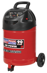 Sealey SAC03290 Compressor 90ltr Belt Drive 1.5hp Oil Free