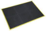 Sealey MIC1218Y3 Interlocking Comfort Workshop Mat Set 1240 x 1825mm with Hi-Vis Edges