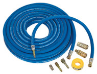 Sealey AHK02 Air Hose Kit Heavy-Duty 15mtr x ¯10mm with Connectors