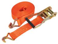 Sealey TD3008J Ratchet Tie Down 50mm x 8mtr Polyester Webbing 3000kg Load Test
