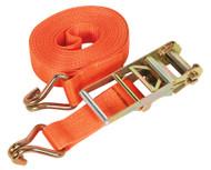 Sealey TD10008J Ratchet Tie Down 75mm x 8mtr Polyester Webbing 10000kg Load Test