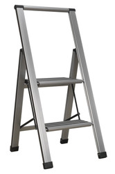 Sealey APSL2 Aluminium Professional Folding Step Ladder 2-Step 150kg Capacity