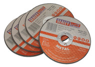 Sealey PTC/100C5 Cutting Disc ¯100 x 3mm 16mm Bore Pack of 5