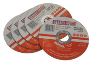 Sealey PTC/115CT5 Cutting Disc ¯115 x 1.6mm 22mm Bore Pack of 5